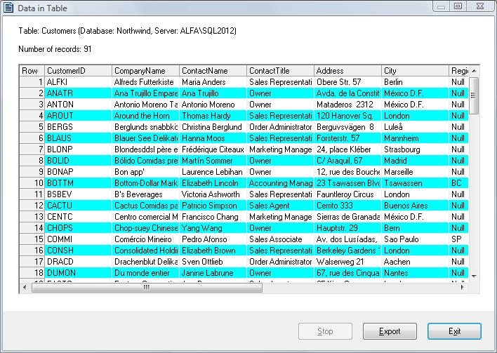 Database Management Software Screenshot