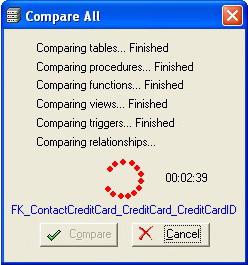 SQL Server Comparison Tool, Database Management Software Screenshot
