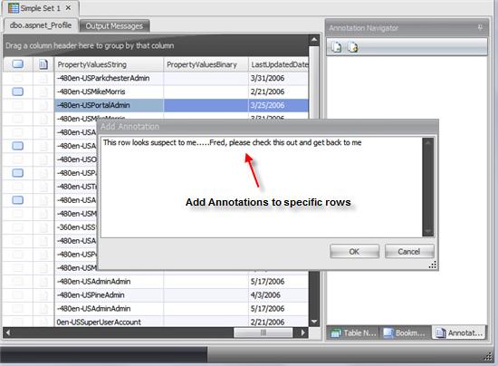 SQL Sets, Development Software Screenshot