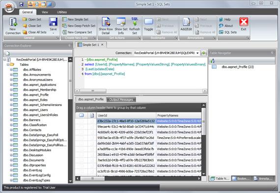 SQL Sets Screenshot