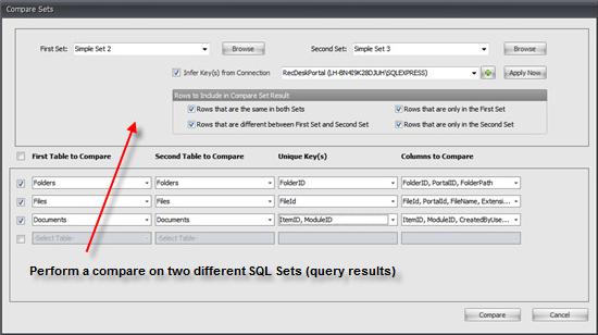 Development Software, SQL Sets Screenshot