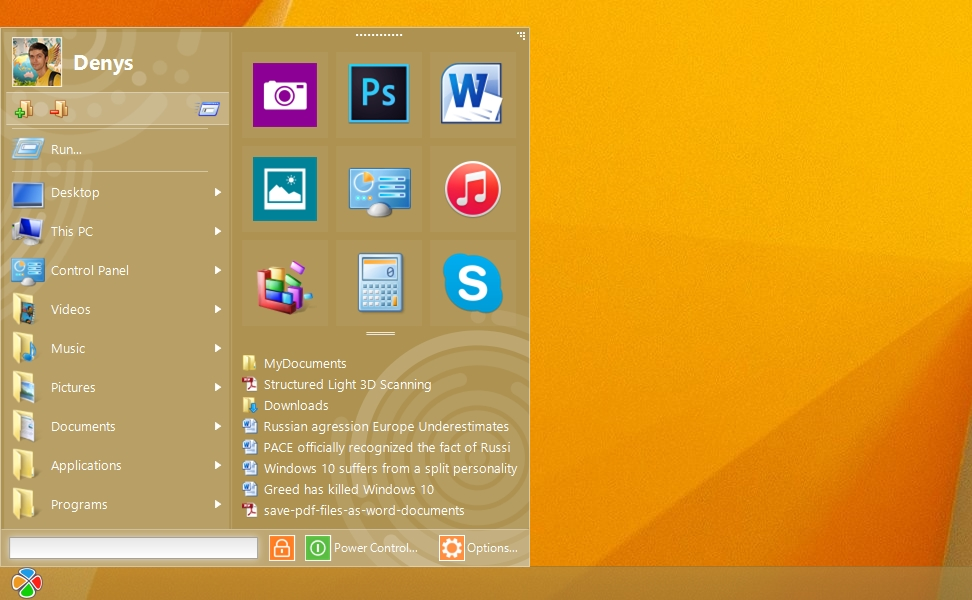 Start Menu 10 Screenshot