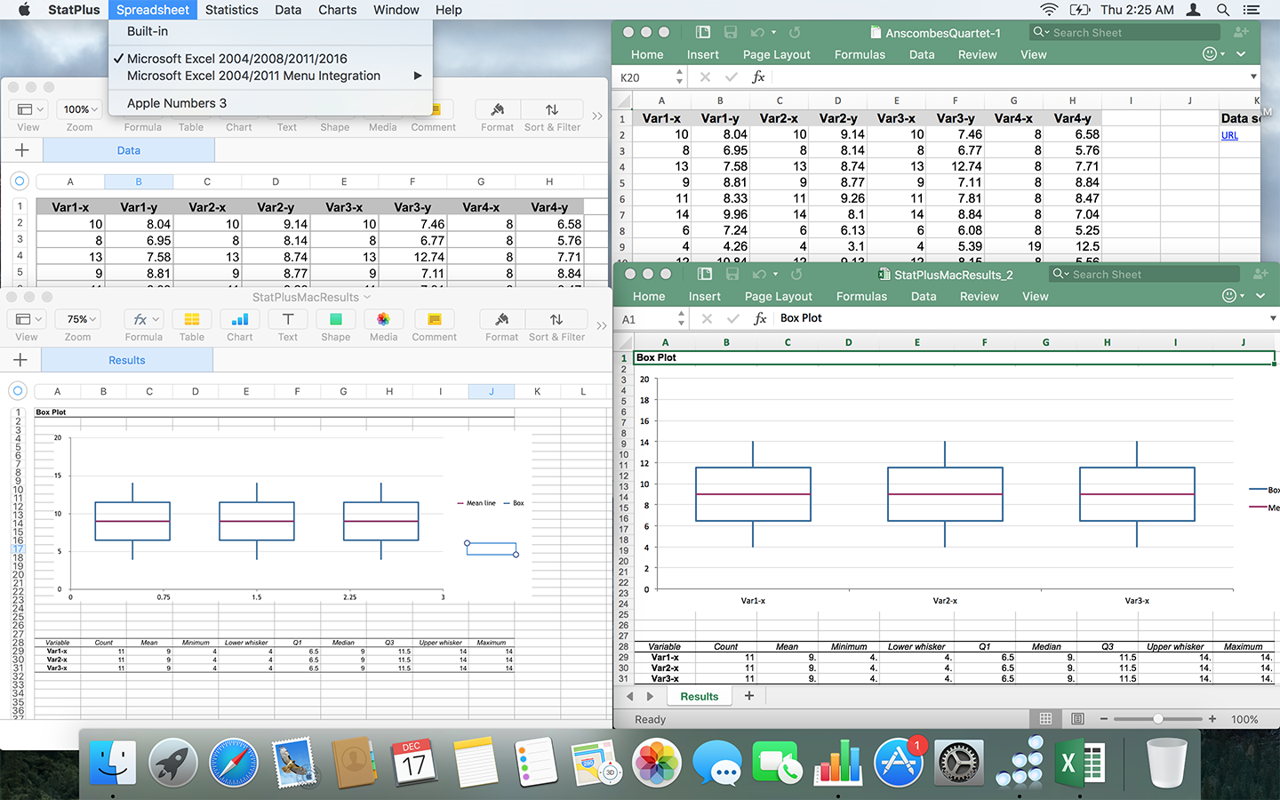 StatPlus, Spreadsheet Editors Software Screenshot