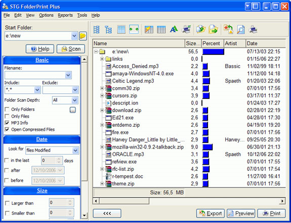 Files and Folders Software Screenshot