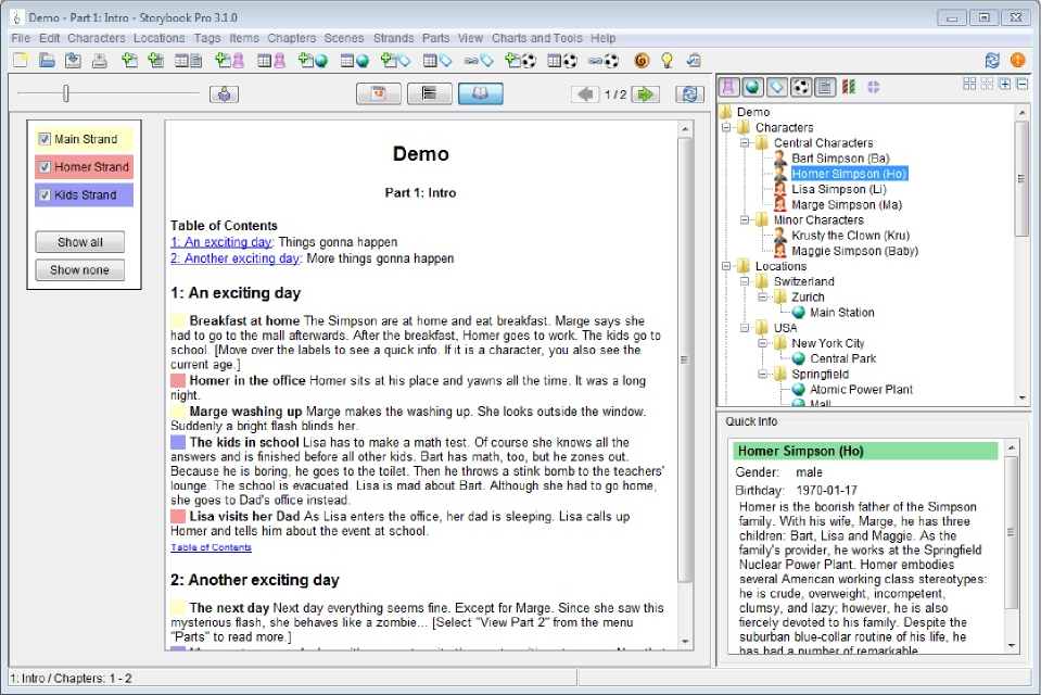 Storybook Pro, Business & Finance Software Screenshot