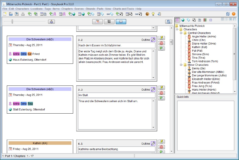 Storybook Pro, Word Processing Software Screenshot