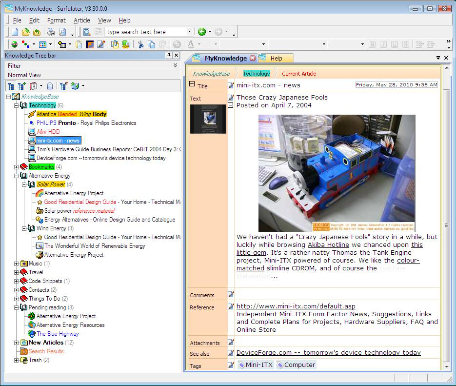 Internet Software, Web Research Software Screenshot