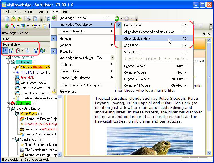 Internet Software, Surfulater Screenshot