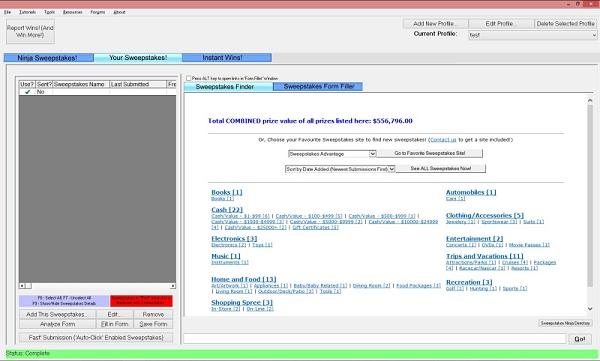 SweepersChoice Bundle (1-month Premium, MILLIONAIRES, Captcha III), Lifestyle Software Screenshot
