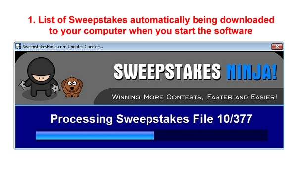 Sweepstakes Ninja Screenshot