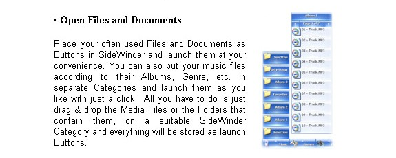 Desktop Customization Software, SWiJ SideWinder Screenshot