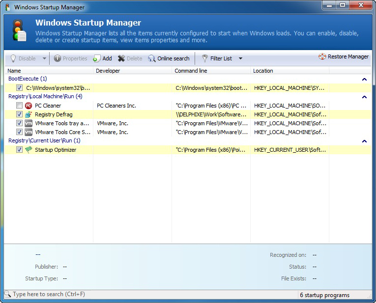 System Cleaner, Software Utilities, PC Optimization Software Screenshot