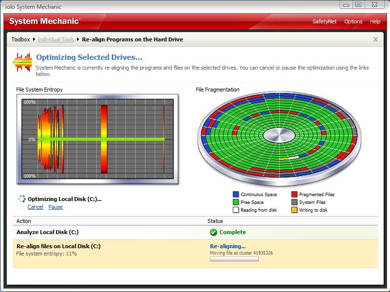 System Mechanic, Software Utilities Screenshot