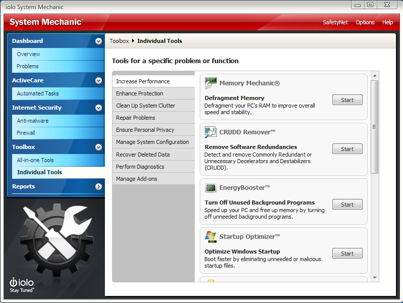 System Mechanic, Software Utilities, PC Optimization Software Screenshot