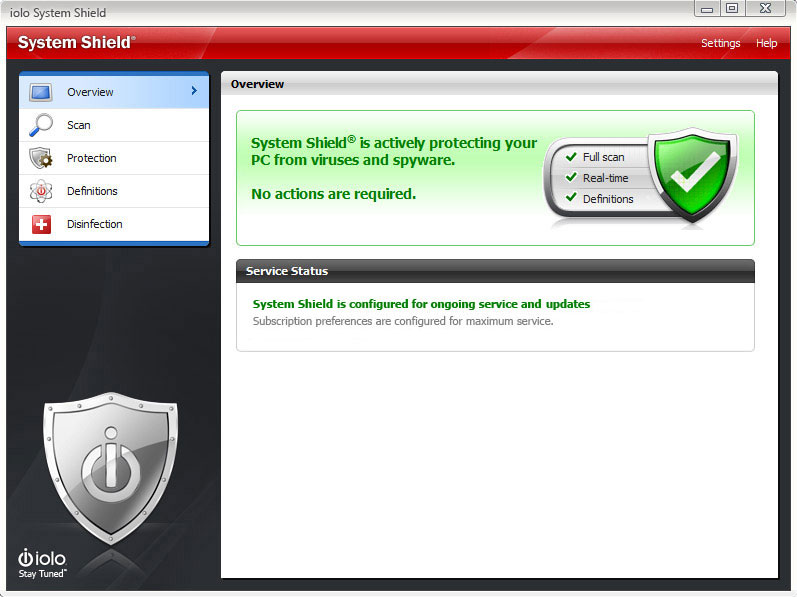 System Shield AntiVirus & AntiSpyware Screenshot