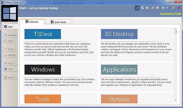 Notes Software, T3Desk Screenshot