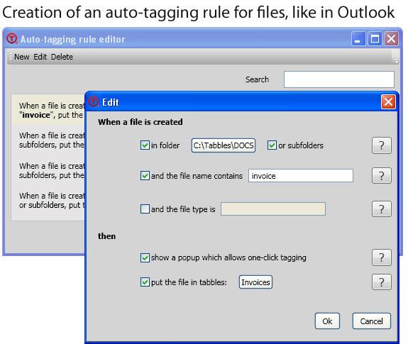 File Management Software, Tabbles Basic Screenshot