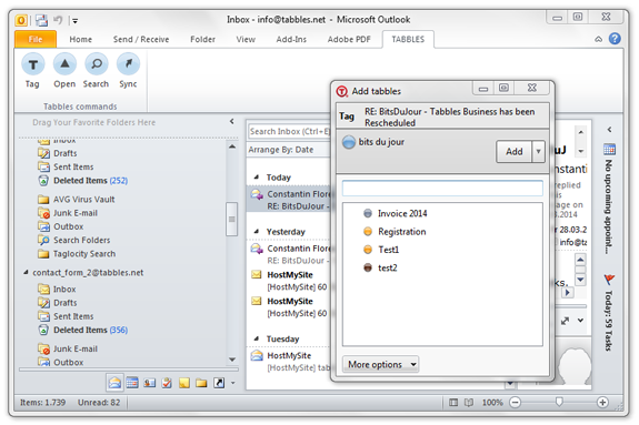 Tabbles 4 - bundled licenses Screenshot