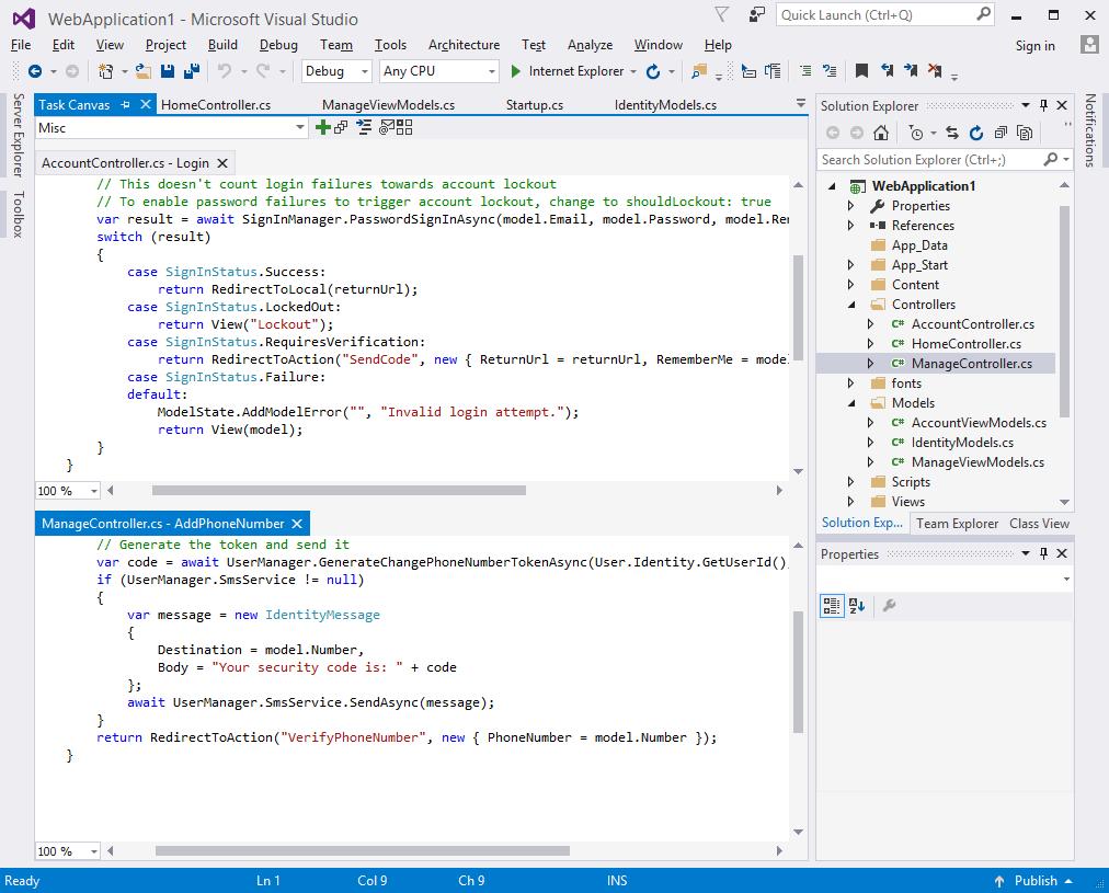 Task Canvas, Development Software, Code Editor Software Screenshot