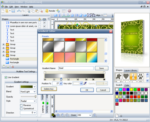 TBS Cover Editor, Design, Photo & Graphics Software Screenshot