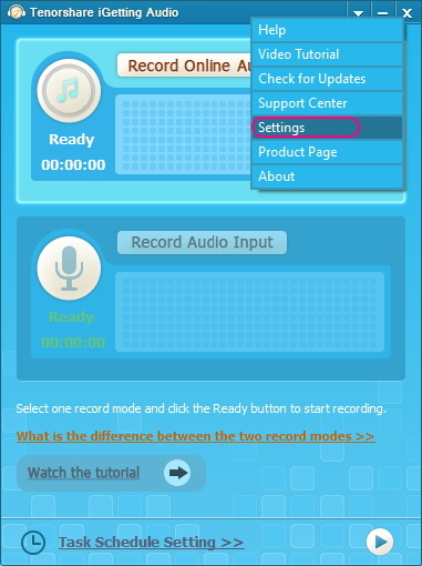 Tenorshare iGetting Audio Screenshot