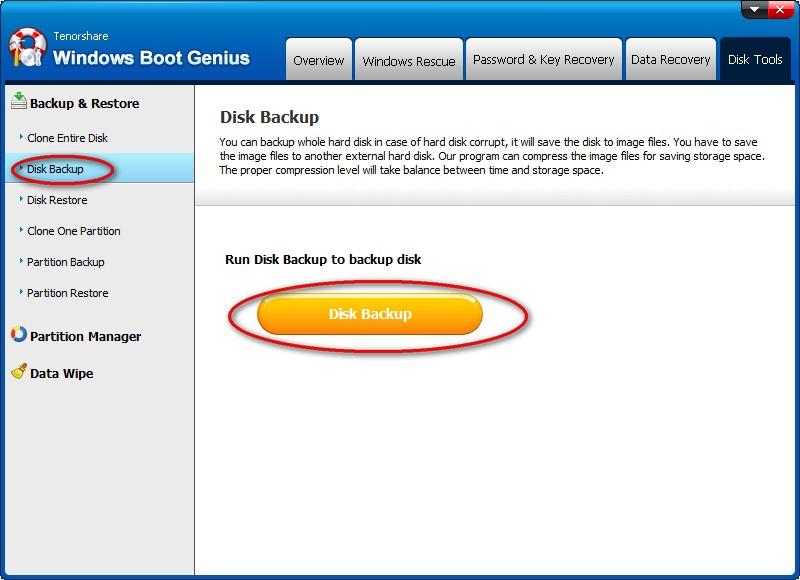 Tenorshare Windows Boot Genius, Software Utilities, PC Optimization Software Screenshot