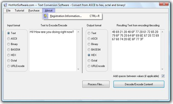 Text / Numeric / Alphanumeric Multipurpose Conversion Utilitity Screenshot