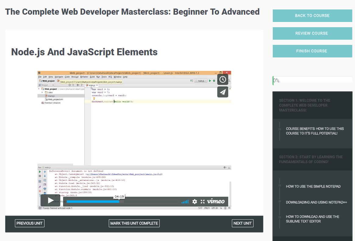 The Complete Web Developer Masterclass: Beginner To Advanced, Learning and Courses Software Screenshot
