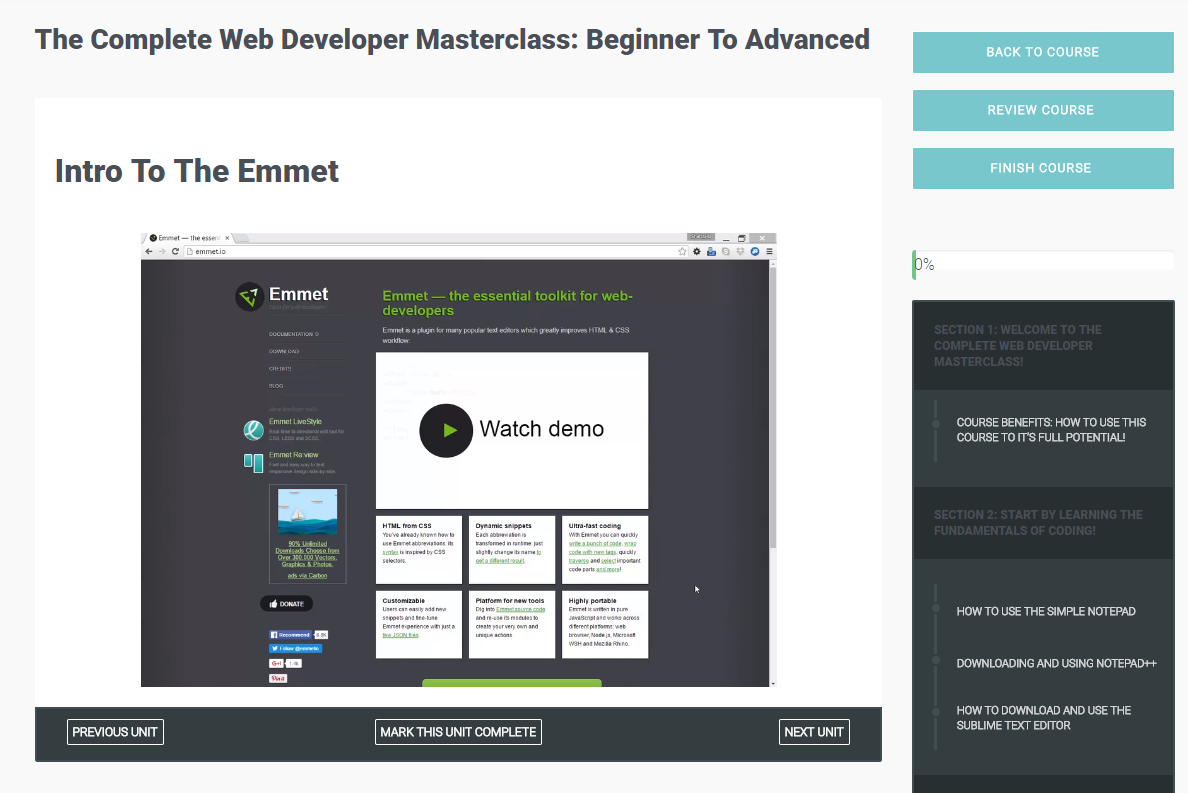 The Complete Web Developer Masterclass: Beginner To Advanced Screenshot