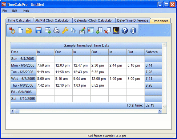 timecalcpro calculator software download for pc