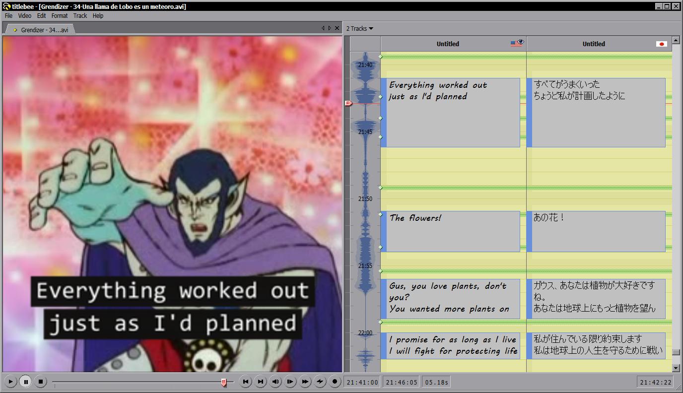titlebee subtitling software Screenshot