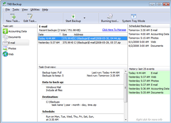 TK8 Backup Pro + Lifetime Upgrade Protection Screenshot