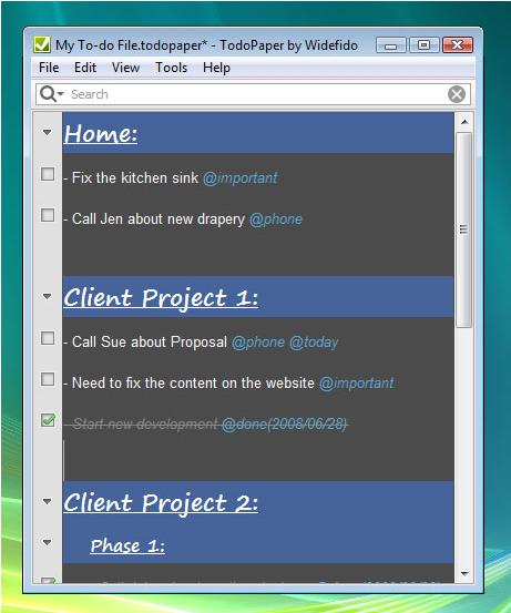 TodoPaper Screenshot