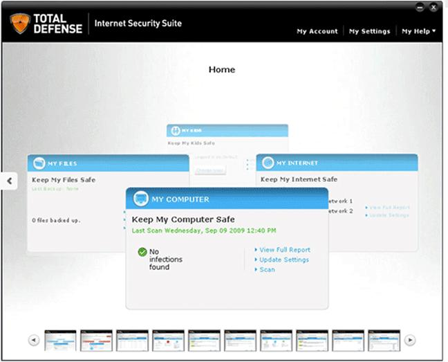 Internet Security Software Screenshot