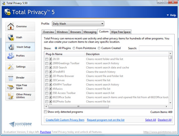 Security Software, Total Privacy Screenshot