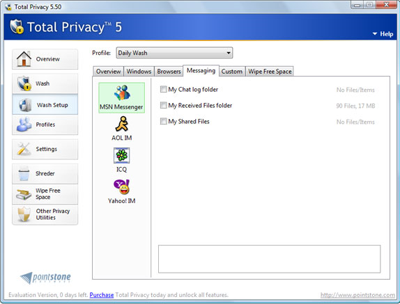 Total Privacy Screenshot