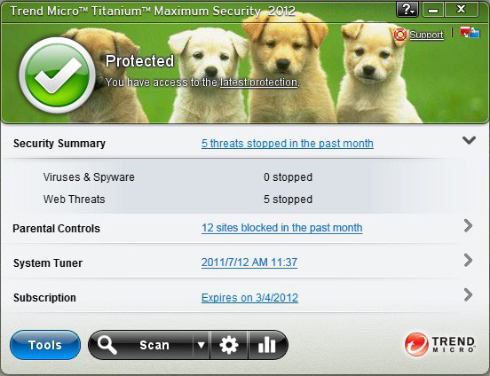 Trend Micro Antivirus, Antivirus Software Screenshot