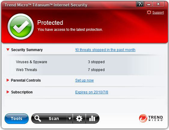 Trend Micro Titanium Internet Security Screenshot