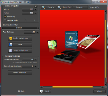 True BoxShot, Design, Photo & Graphics Software Screenshot