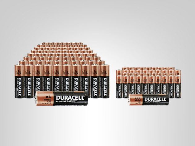 Trusted Everywhere: 100 AA & 50 AAA Duracell Batteries Screenshot