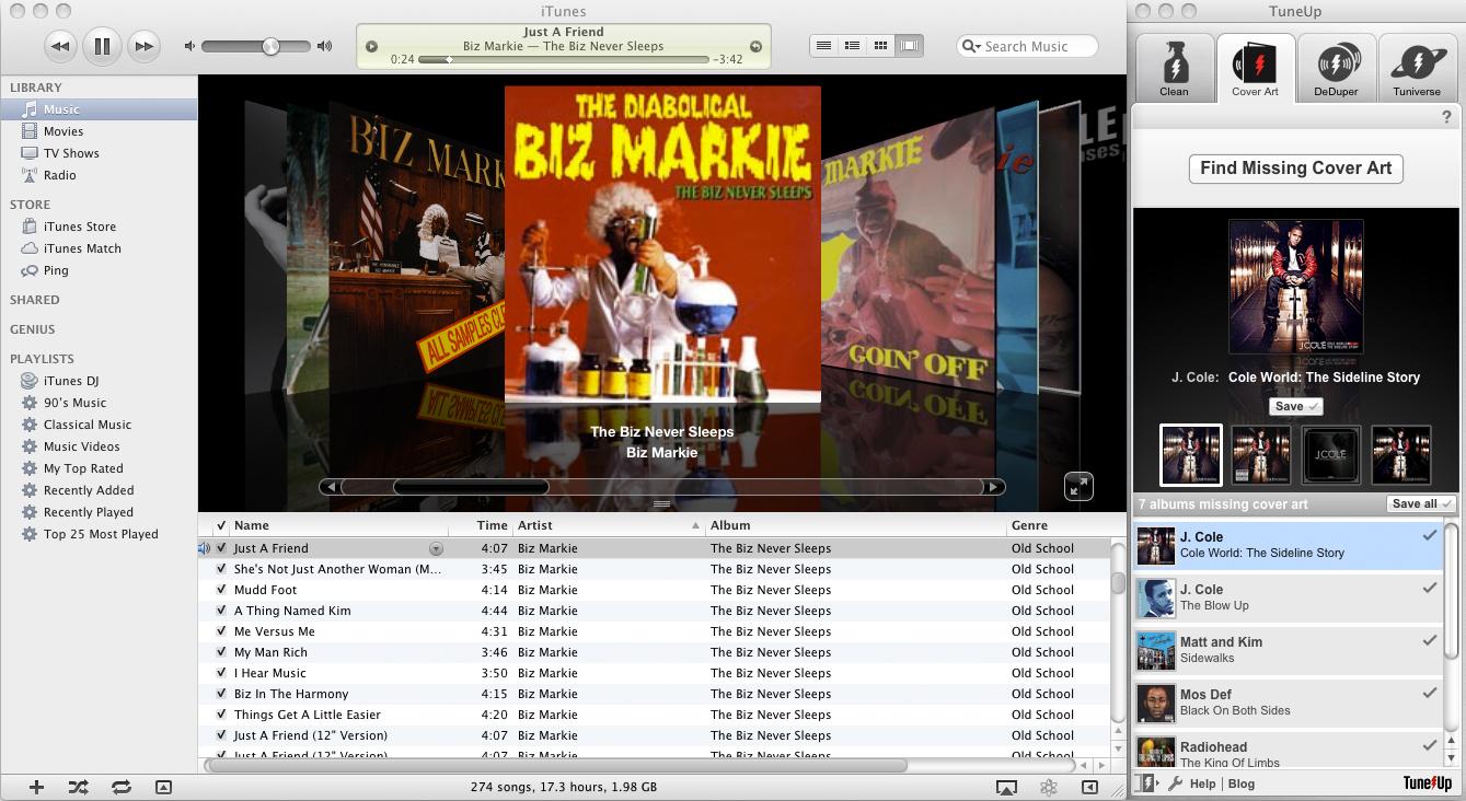 TuneUp, MP3 Tag Editing Software Screenshot