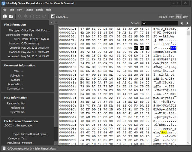 Turbo View & Convert, File Management Software Screenshot
