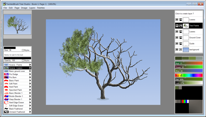 Tree Studio, Design, Photo & Graphics Software Screenshot