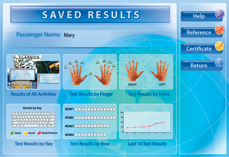 Typing Instructor Platinum 21.0, Educational Software Screenshot