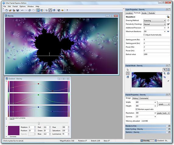 Ultra Fractal 5 Express Edition Screenshot
