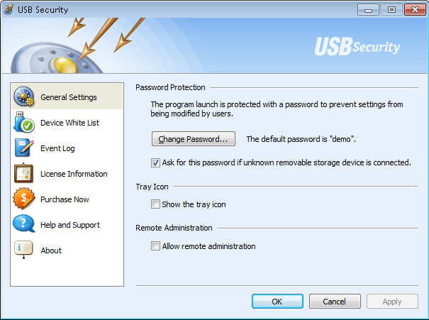 USB Security Screenshot
