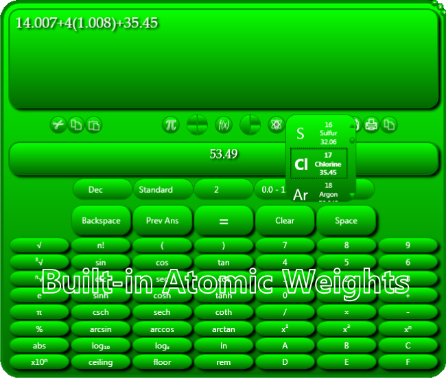Usmania Calculator, Educational Software Screenshot