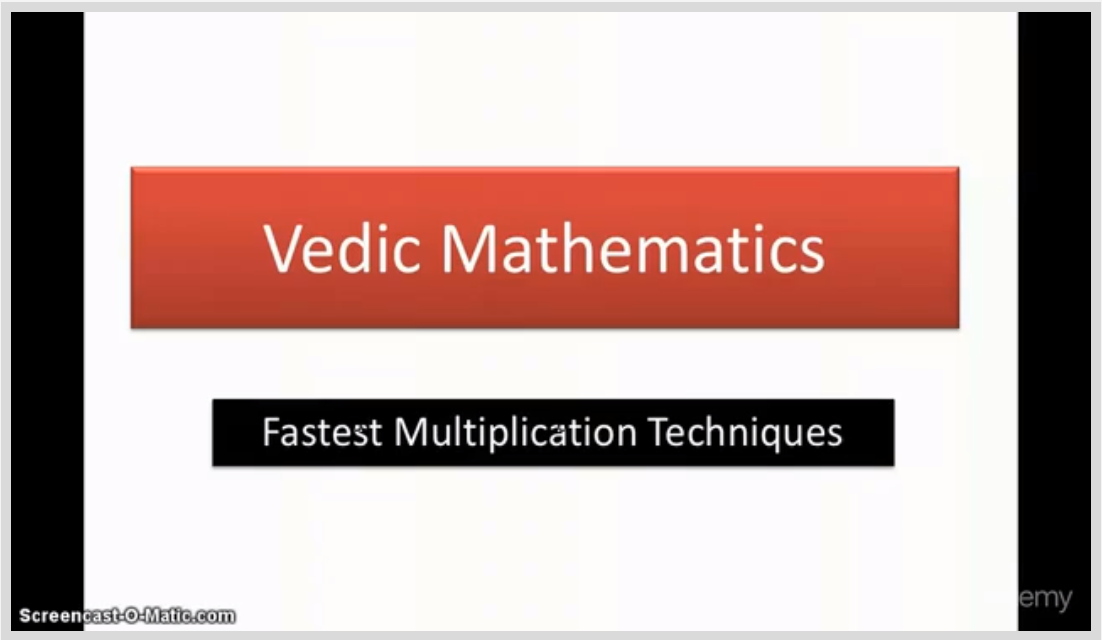 Vedic Multiplication - Fastest and Easiest techniques Screenshot