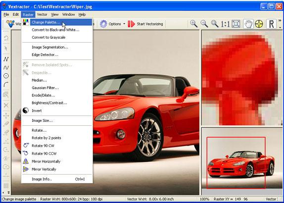 Vextractor, Vector Drawing Software Screenshot