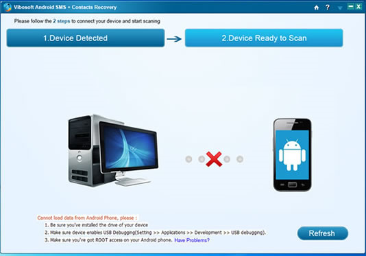 Vibosoft Android SMS+Contacts Recovery Screenshot
